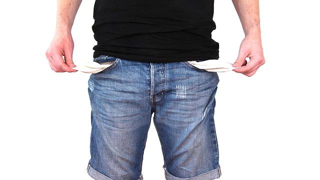 kalhoty bez peněz