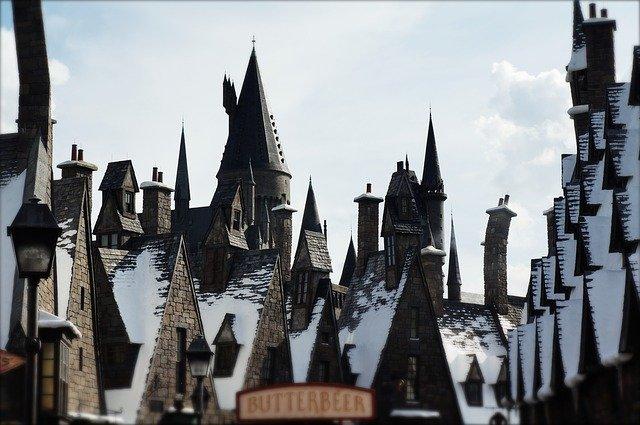 zasněžený hrad